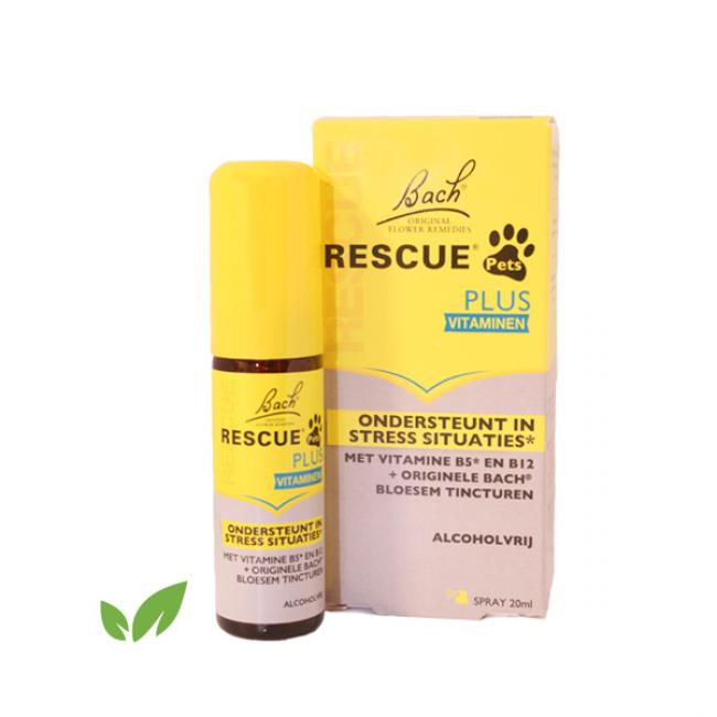Bach Rescue Spray Plus met vitamine B5 en B12